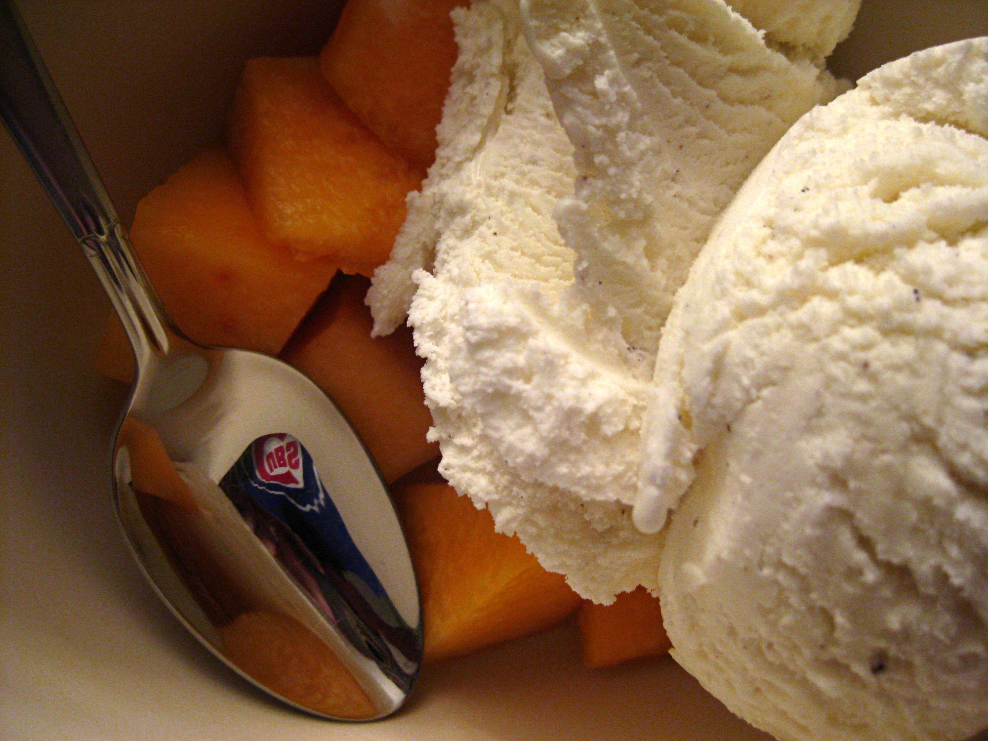 Cantaloupe + Ice Cream + Cubs Shirt